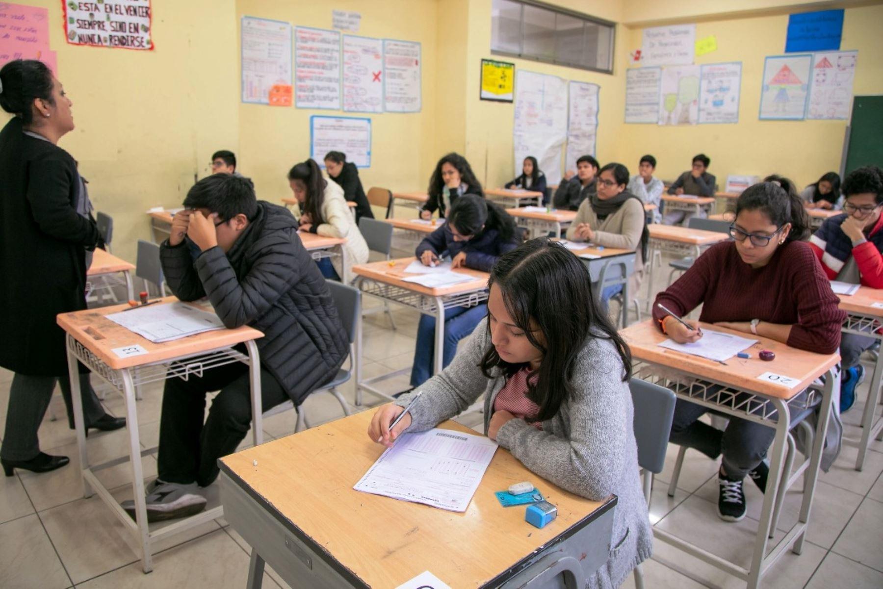 Beca 18: este domingo más de 71 mil jóvenes rendirán el Examen Nacional. Foto: ANDINA/Difusión.