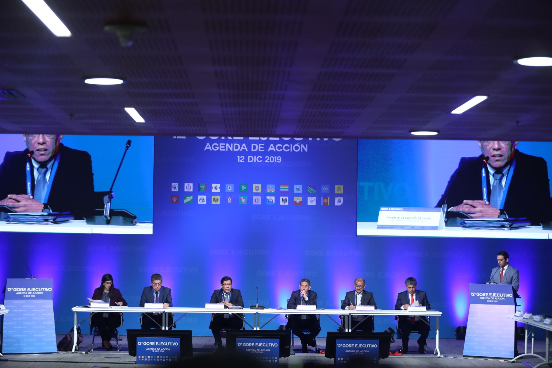 Jefe del gabinete, Vicente Zeballos da inicio al 12° Gore Ejecutivo. Foto: ANDINA/Melina Mejía