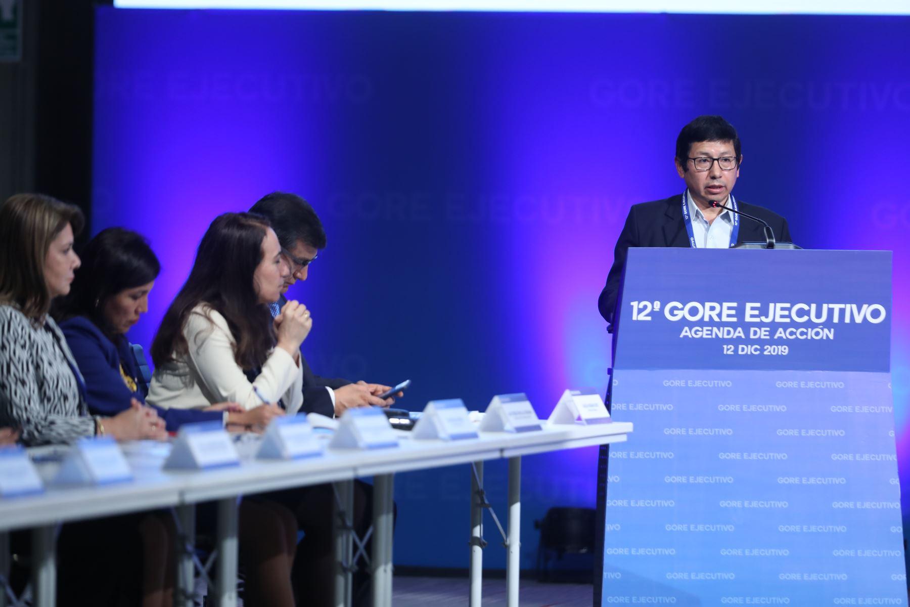 Ministro de Transportes y Comunicaciones, Edmer Trujillo participa en el 12° Gore Ejecutivo. Foto: ANDINA/Melina Mejía