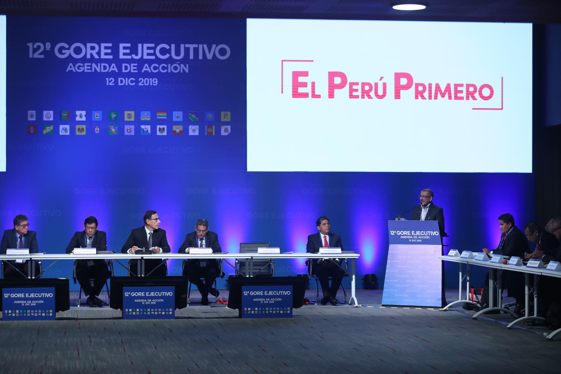 Presidente, Martín Vizcarra participa en la 12° Gore Ejecutivo. Foto: ANDINA/Melina Mejía