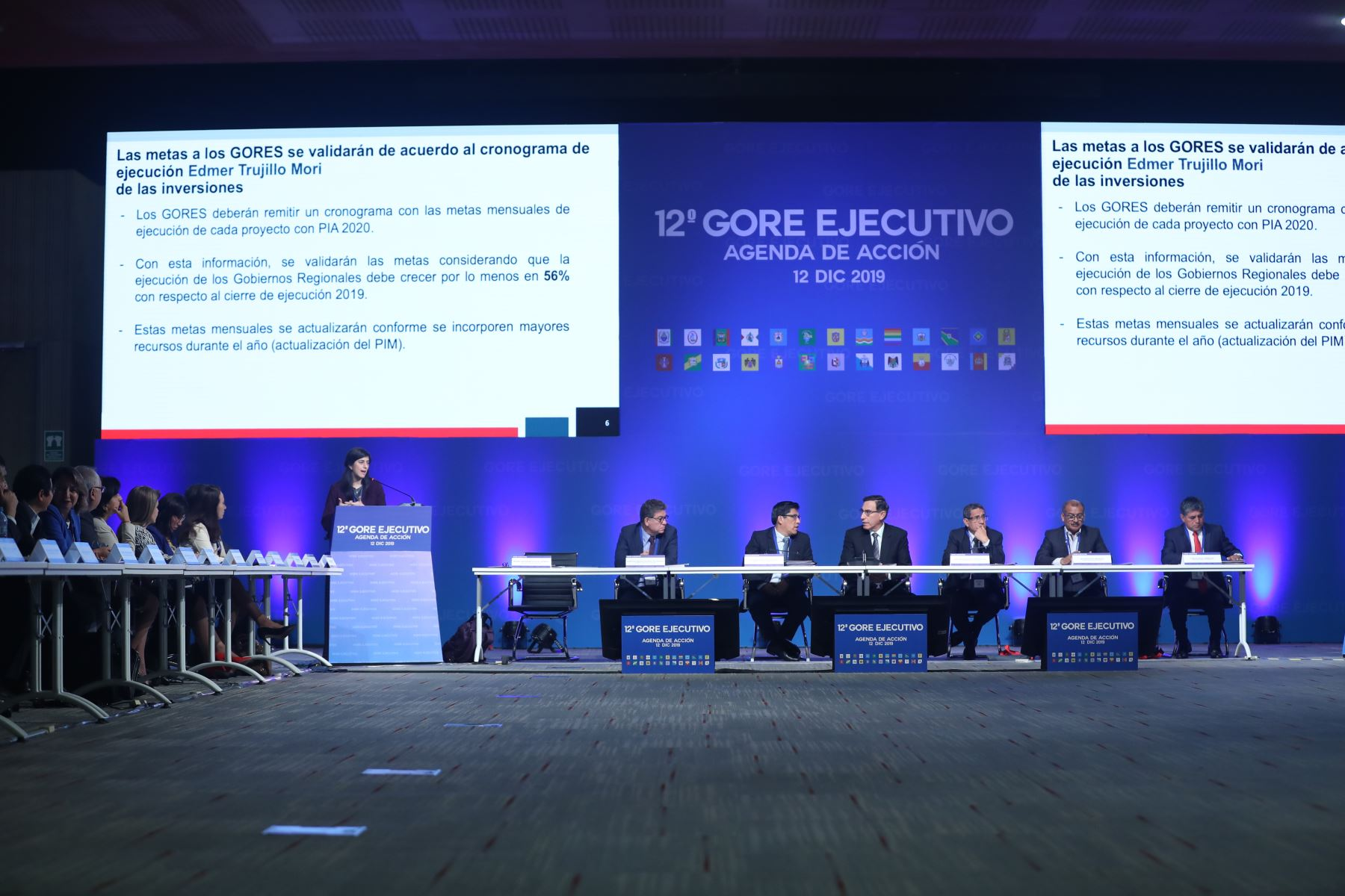 Ministra de Economía, María Antonieta Alva participa participa en la 12° Gore Ejecutivo. Foto: ANDINA/Melina Mejía
