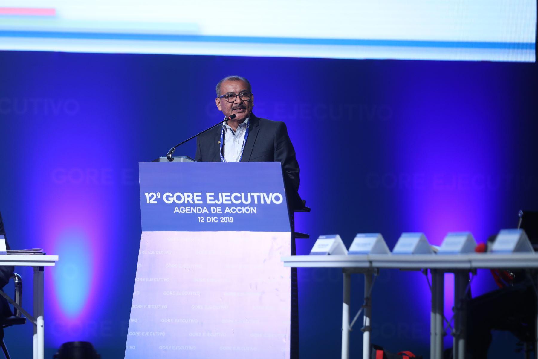 Gobernador regional de Tumbes, Wilmer Dios participa en la 12° Gore Ejecutivo. Foto: ANDINA/Melina Mejía