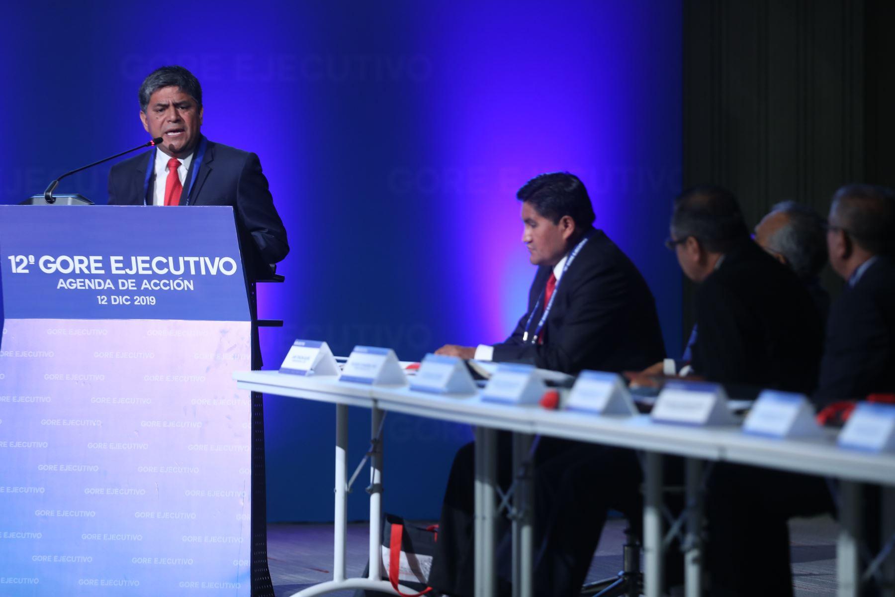Gobernador Regional de Tacna, Juan Tonconi participa en la 12° Gore Ejecutivo. Foto: ANDINA/Melina Mejía