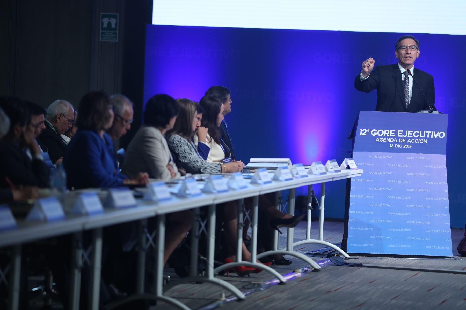 Presidente Martín Vizcarra participa en la 12° Gore Ejecutivo. Foto: ANDINA/Melina Mejía
