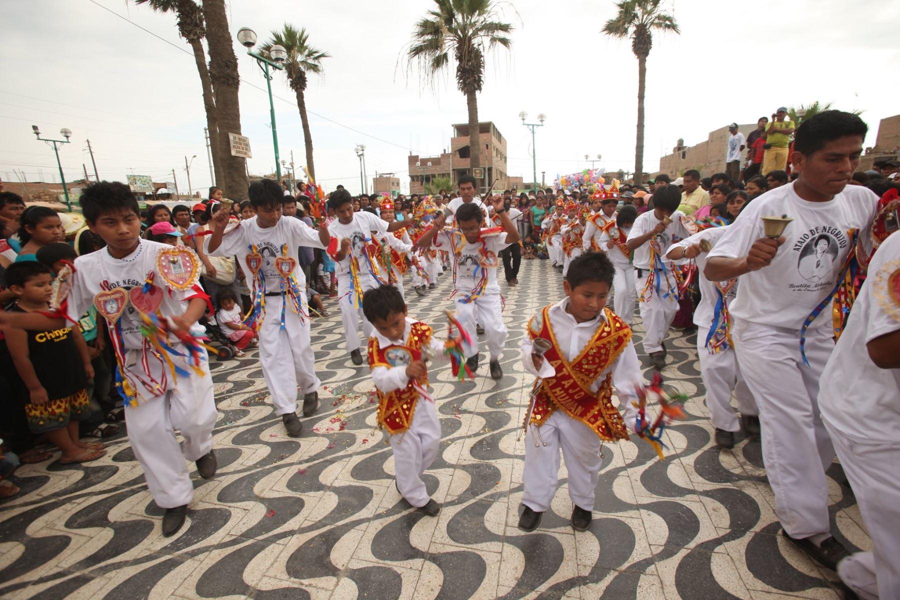 Unesco reconoció a Hatajo de Negritos y Las Pallitas, que se escenifican en Ica, como Patrimonio Cultural Inmaterial de la Humanidad. ANDINA/Difusión