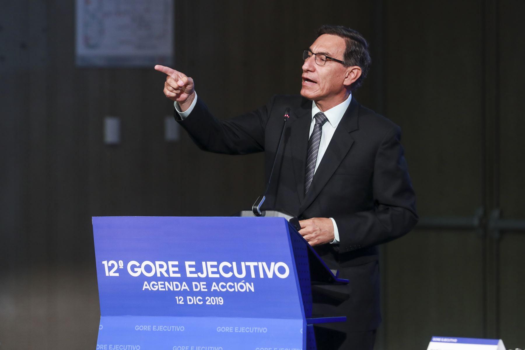 Presidente de la República, Martín Vizcarra, participó en el 12 Gore Ejecutivo. Foto: ANDINA/ Prensa Presidencia