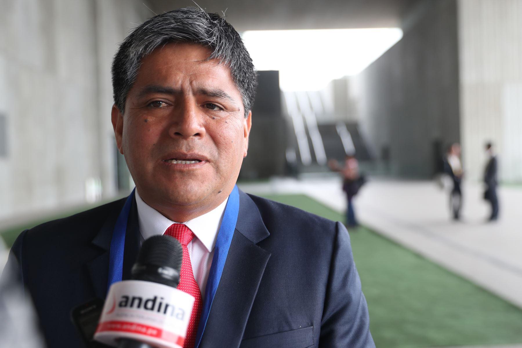 El gobernador regional de Ayacucho, Carlos Rúa, participó en 12º Gore Ejecutivo. que se desarrolla en Lima. Foto: ANDINA/Melina Mejía
