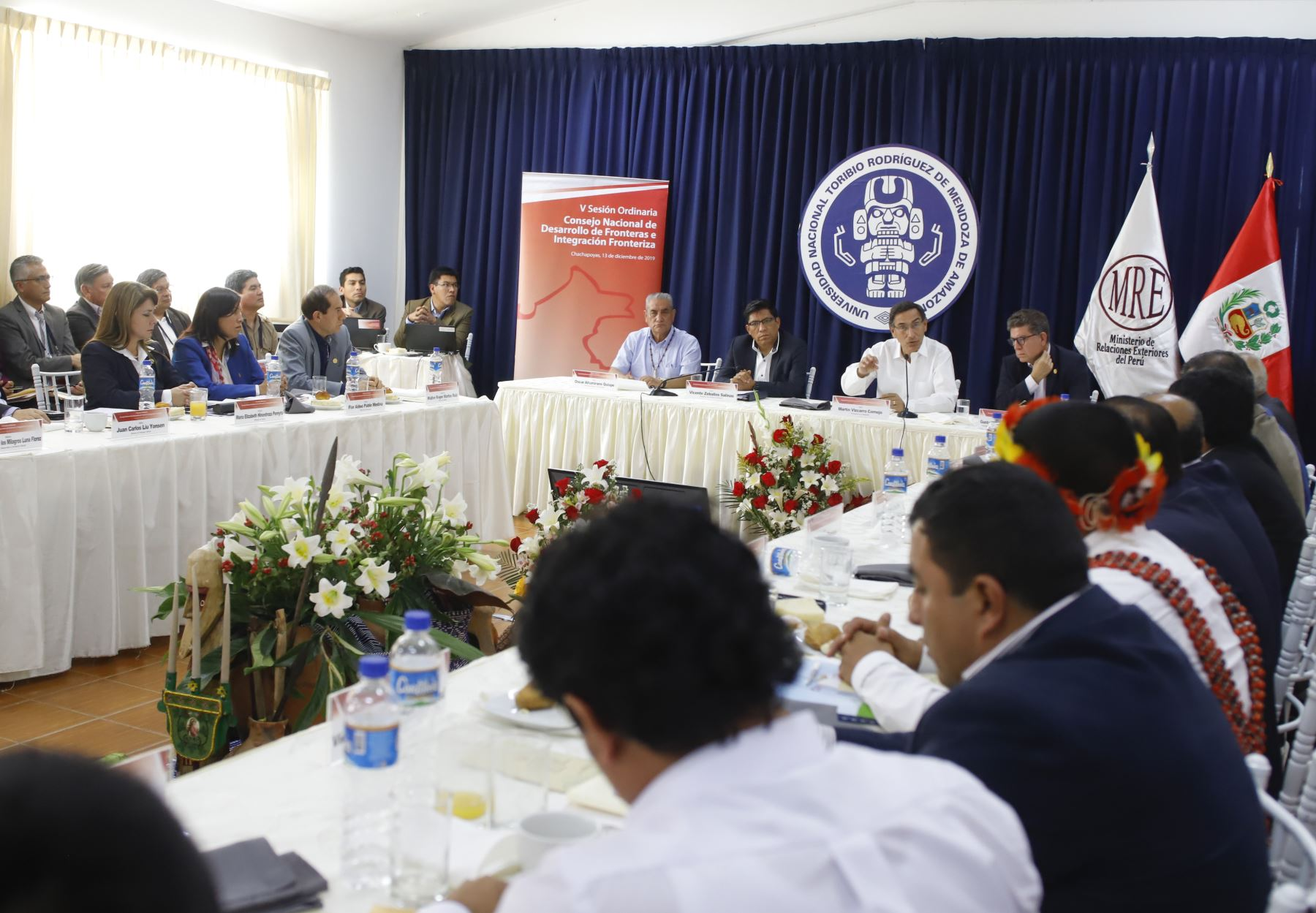 V Sesión Ordinaria del Consejo Nacional de Desarrollo de fronteras e integración fronteriza  ( CONADIF). Foto: ANDINA/Prensa Presidencia