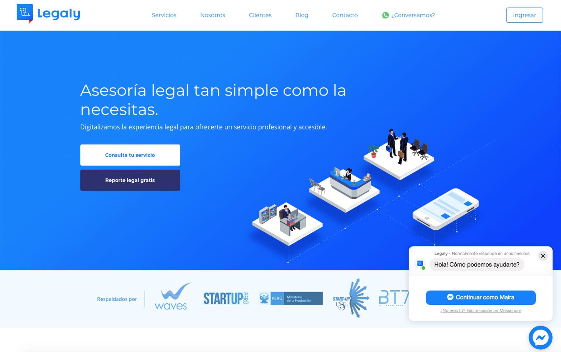Legaly es una plataforma digital de gestión legal que te permite constituir tu empresa y realizar trámites desde la comodidad de la oficina.