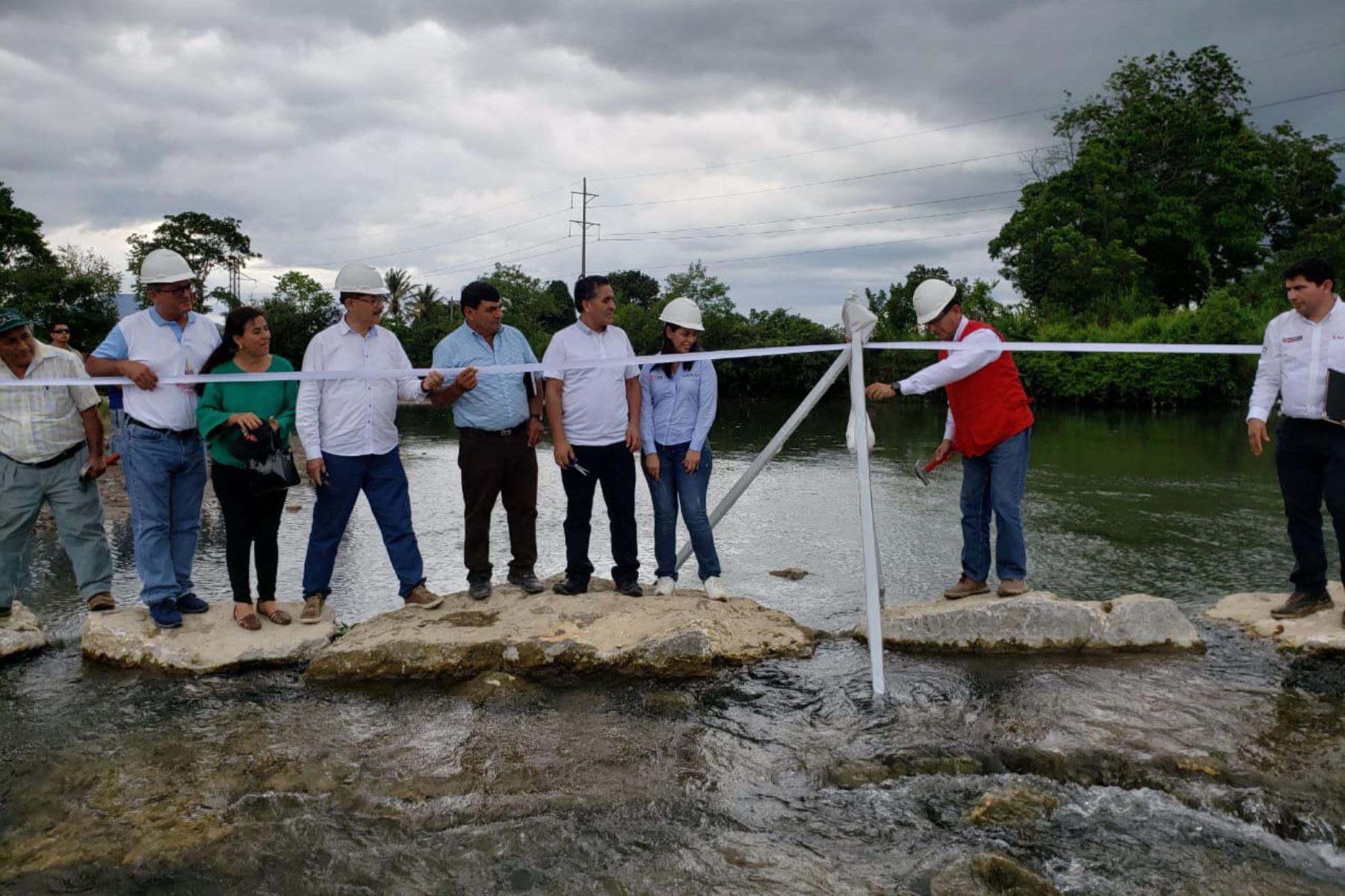 Con una inversión de 3.6 millones de soles, Agro Rural rehabilitó bocatomas de canales de riego en San Martín.