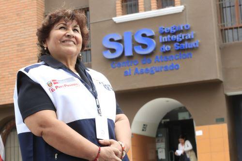 Asistenta social del SIS trabaja desde hace dos décadas por la salud de los más pobres del Perú. ANDINA/Juan Carlos Guzmán