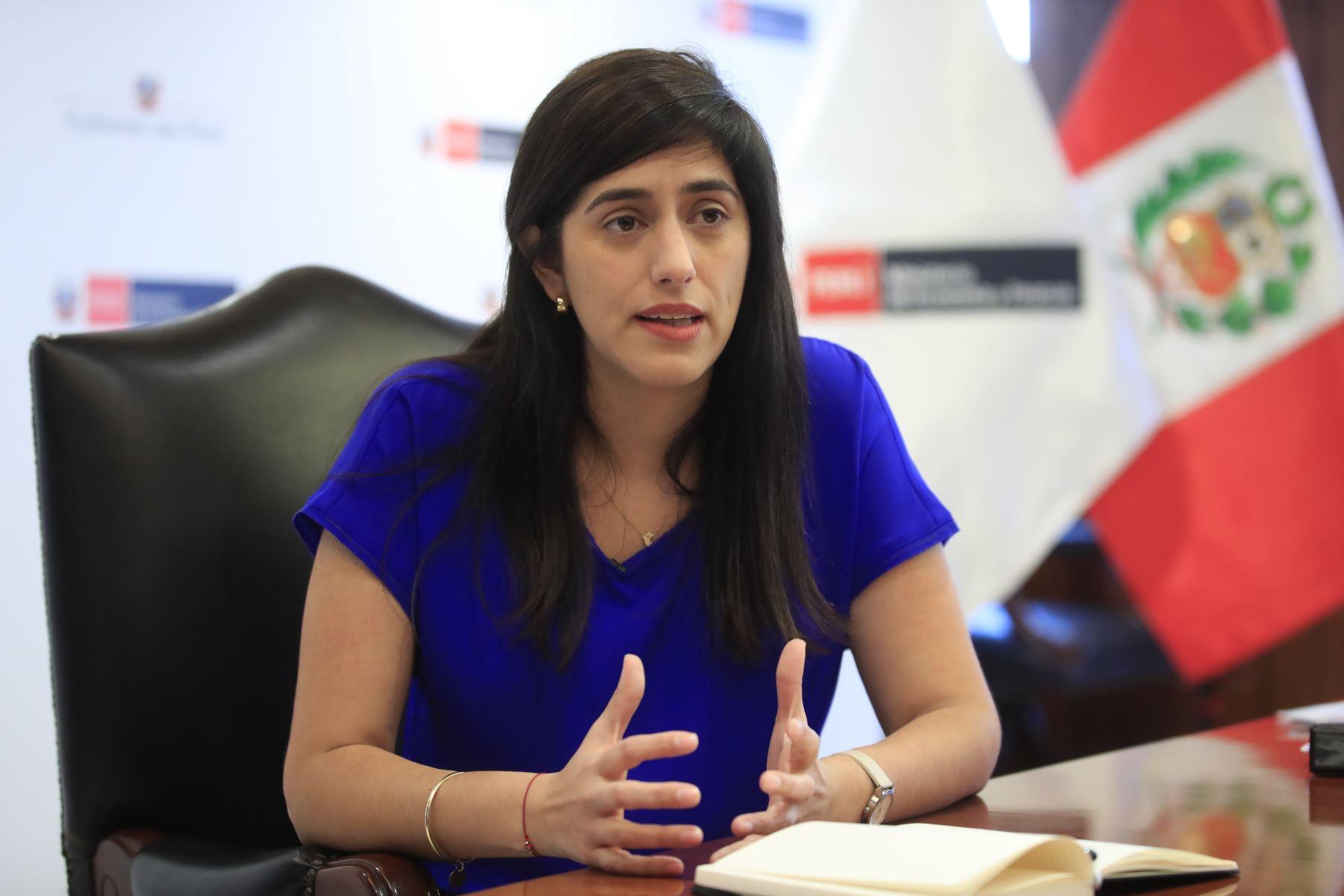 Ministra de Economía y Finanzas, María Antonieta Alva. Foto: ANDINA/Juan Carlos Guzmán.