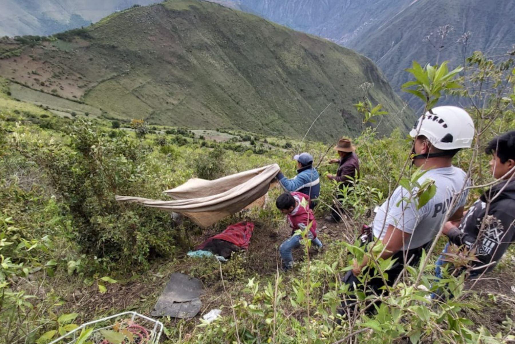 Accidente en la vía Colquemarca-Cusco, en la provincia cusqueña de Chumbivilcas, dejó dos víctimas mortales. Foto: ANDINA/Difusión