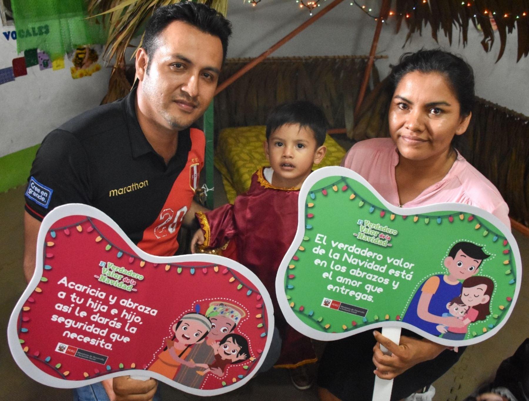 """La ministra de Desarrollo e Inclusión Social, Ariela Luna, invitó hoy a los padres de familia a sumarse a la campaña """"El verdadero valor de la Navidad""""."""