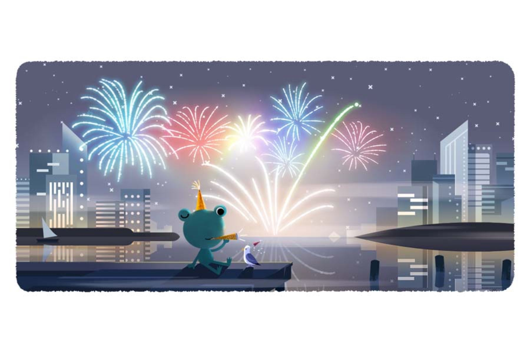 Google recibe el Año Nuevo 2020 con un Doodle interactivo