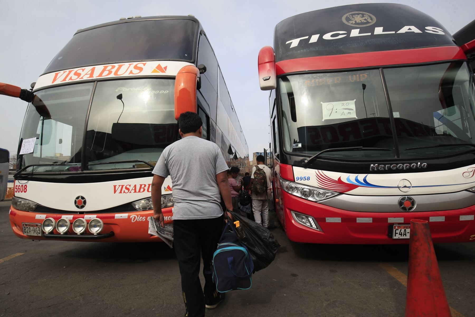 Reactivación del transporte interprovincial de pasajeros será gradual y focalizada. ANDINA/Juan Carlos Guzmán