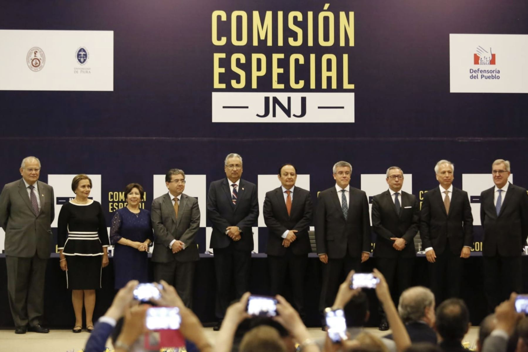Miembros electos de la Junta Nacional de Justicia (JNJ) juraron al cargo, en una ceremonia efectuada en el Centro de Convenciones de San Borja. Foto: ANDINA/ Difusión