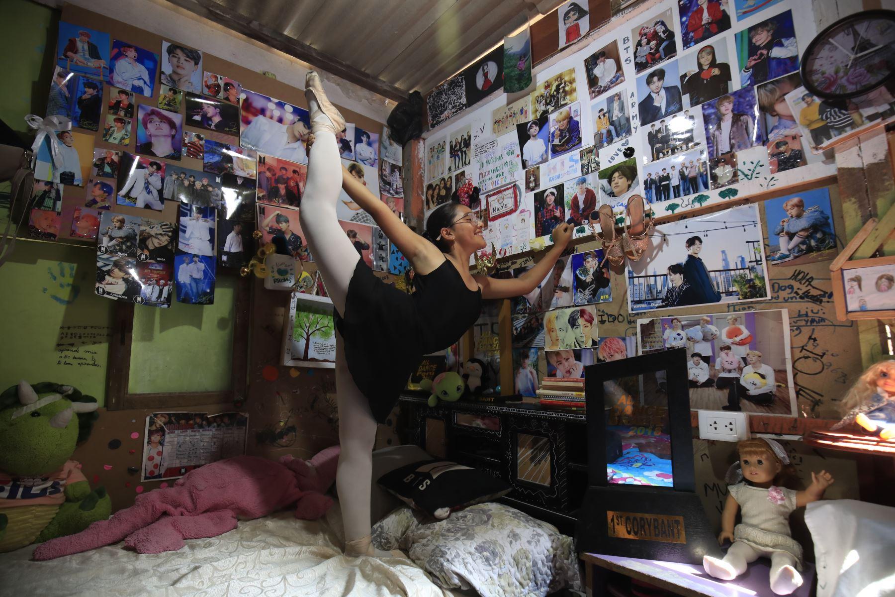 Nicole Chévez estuvo cerca a la muerte y, 5 mese después llegó a Orlando, Florida para competir en un campeonato de Ballet. ANDINA/Juan Carlos Guzmán