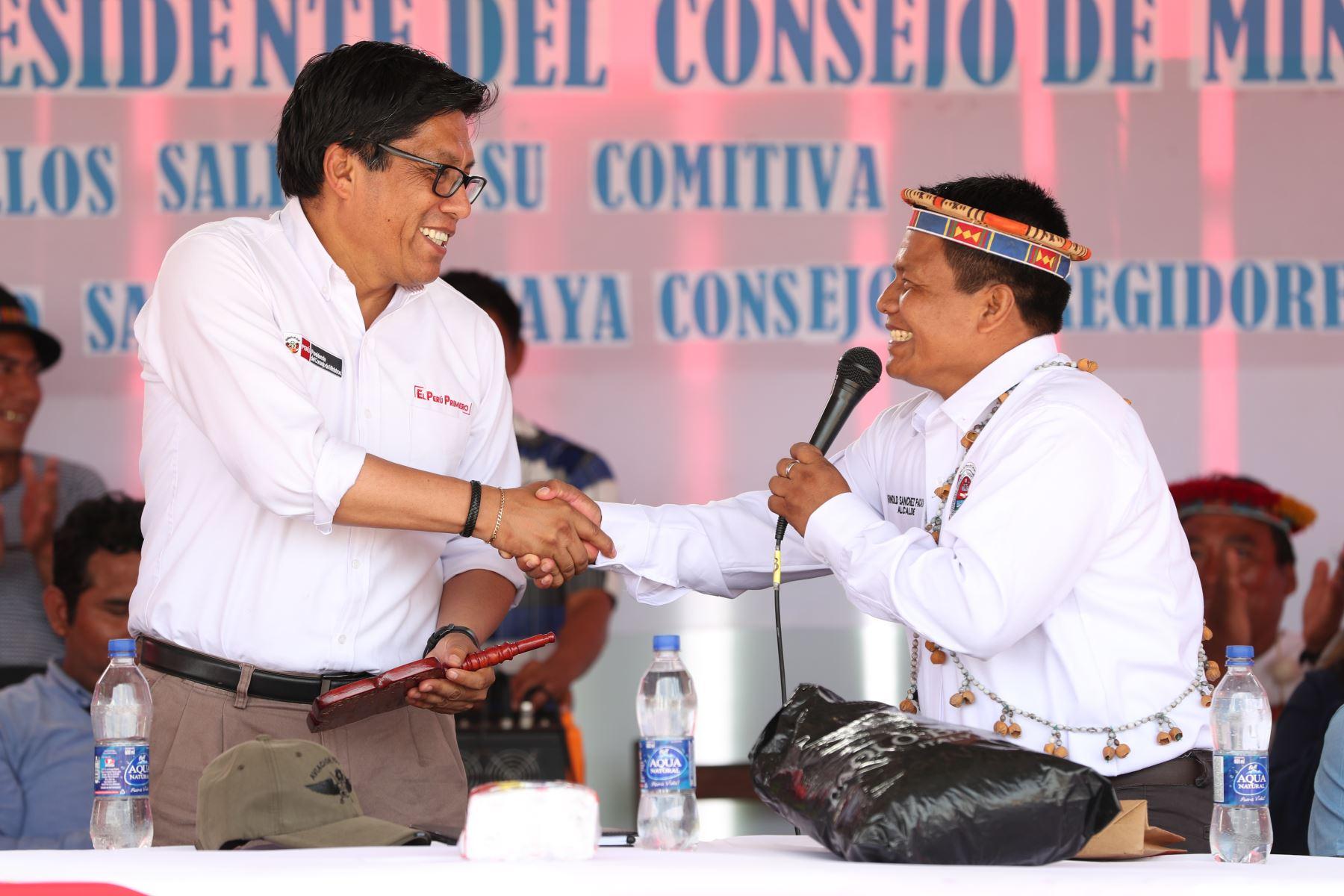 Presidente del Consejo de Ministros, Vicente Zeballos Salinas, realizó visita de trabajo en distrito Teniente Manuel Clavero en la región Loreto. PCM