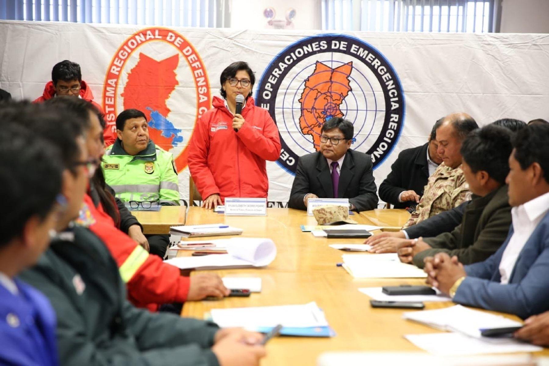 Ministra de Trabajo y Promoción del Empleo, Sylvia Cáceres. Foto: Difusión.