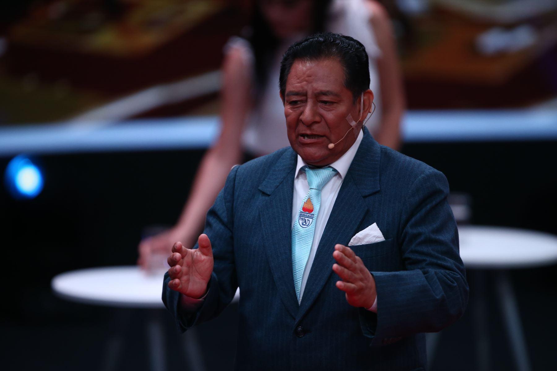Orestes Sanchez de Vamos Perú participa en debate. Foto: ANDINA/Vidal Tarqui