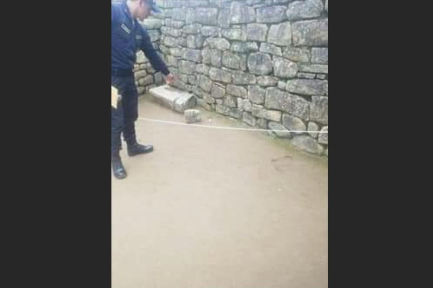 Machu Picchu: exigen drástica sanción para turistas que dañaron patrimonio cultural