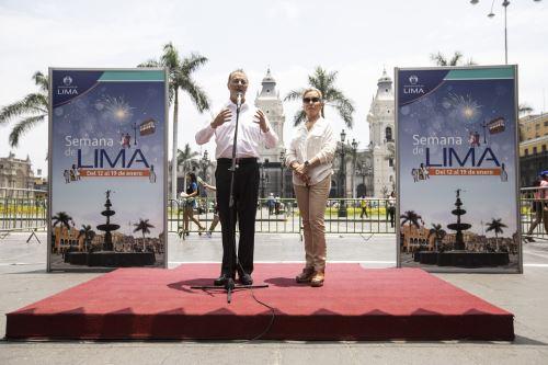 Alcalde de Lima presenta el programa de actividades por los 485 años de fundación de Lima