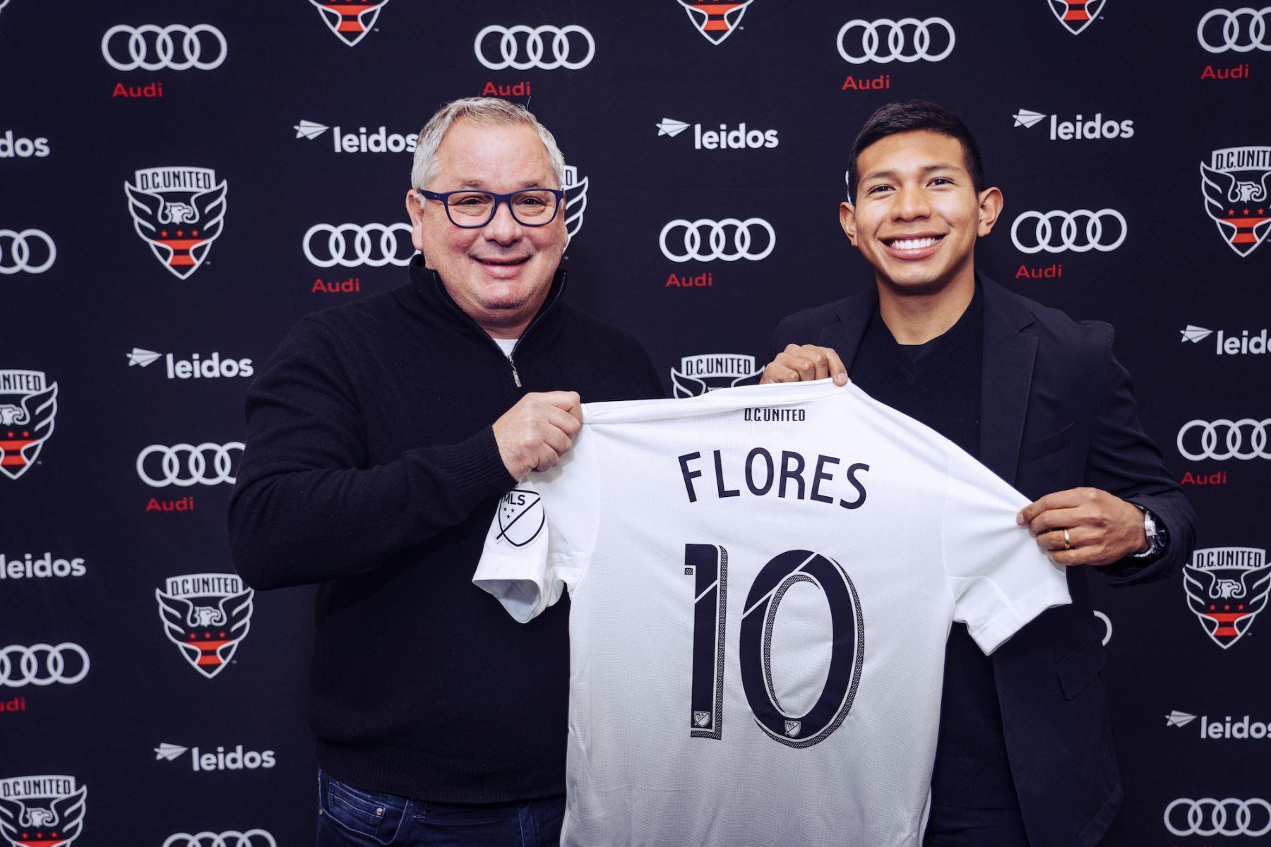 Edison Flores fue presentado como flamante refuerzo del DC United de Estados Unidos
