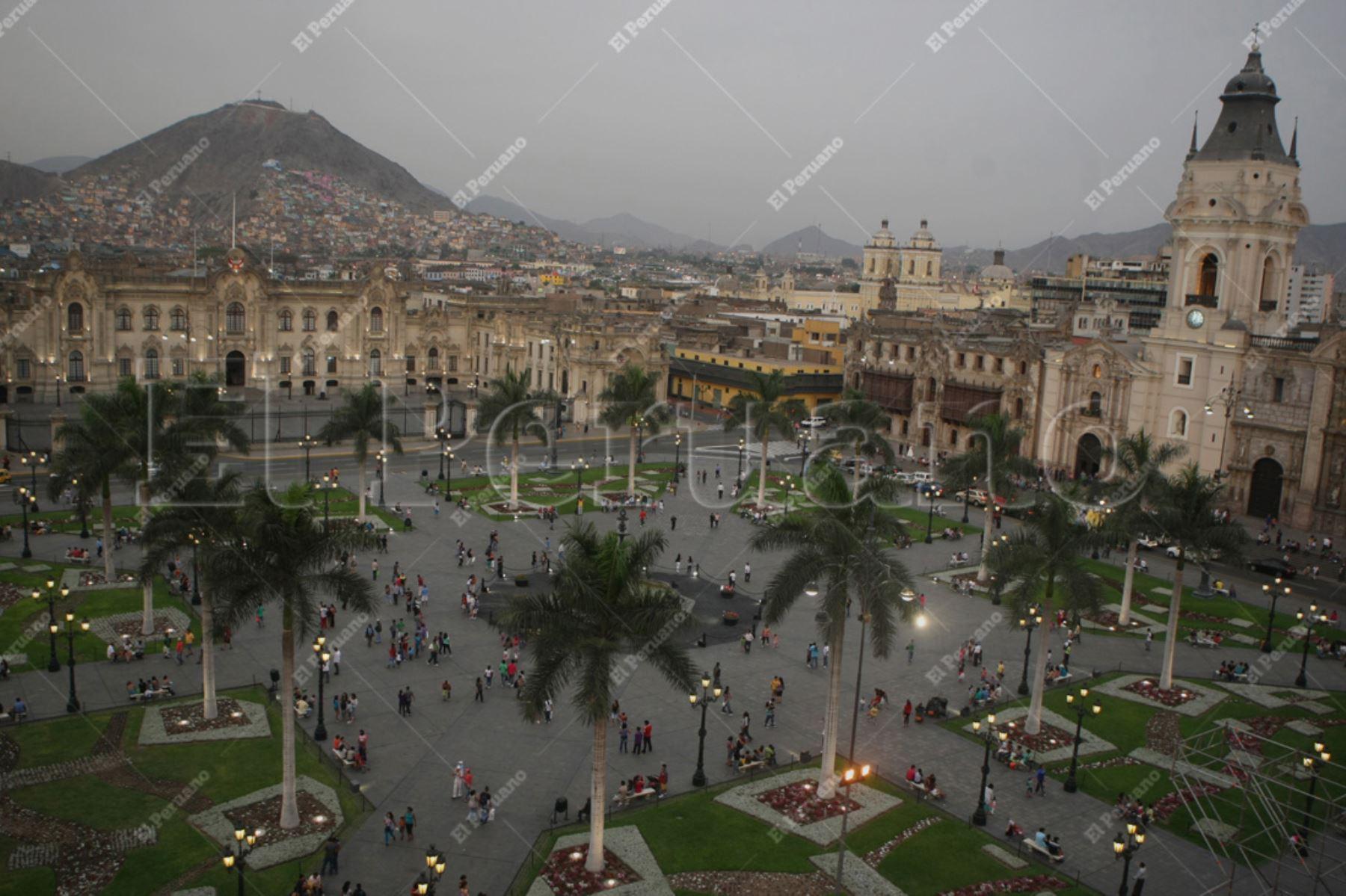 Lima - 12 enero 2013 / Vista panoramica de la Plaza de Armas de Lima.  Foto: Archivo El Peruano