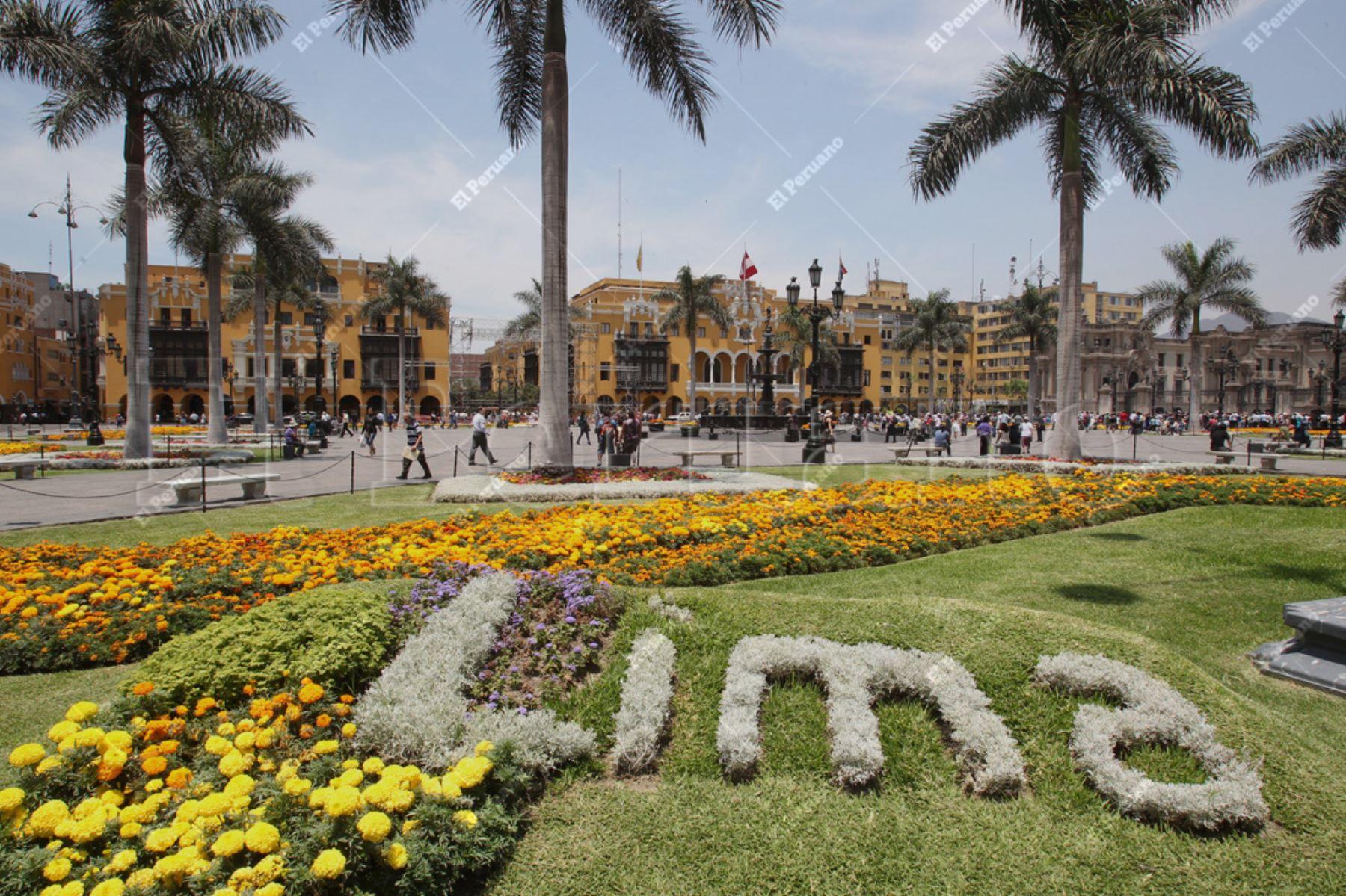 Lima 13 enero 2014 / Vista panoramica de la Plaza de Armas de Lima. Foto: Archivo El Peruano
