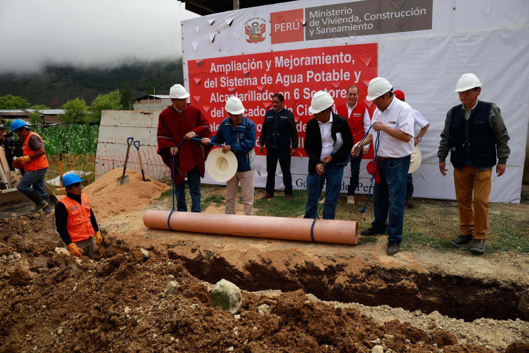 Ministerio de Vivienda invierte más de S/ 5 millones para ampliar cobertura de agua potable en la ciudad de Celendín, en Cajamarca. ANDINA/Difusión