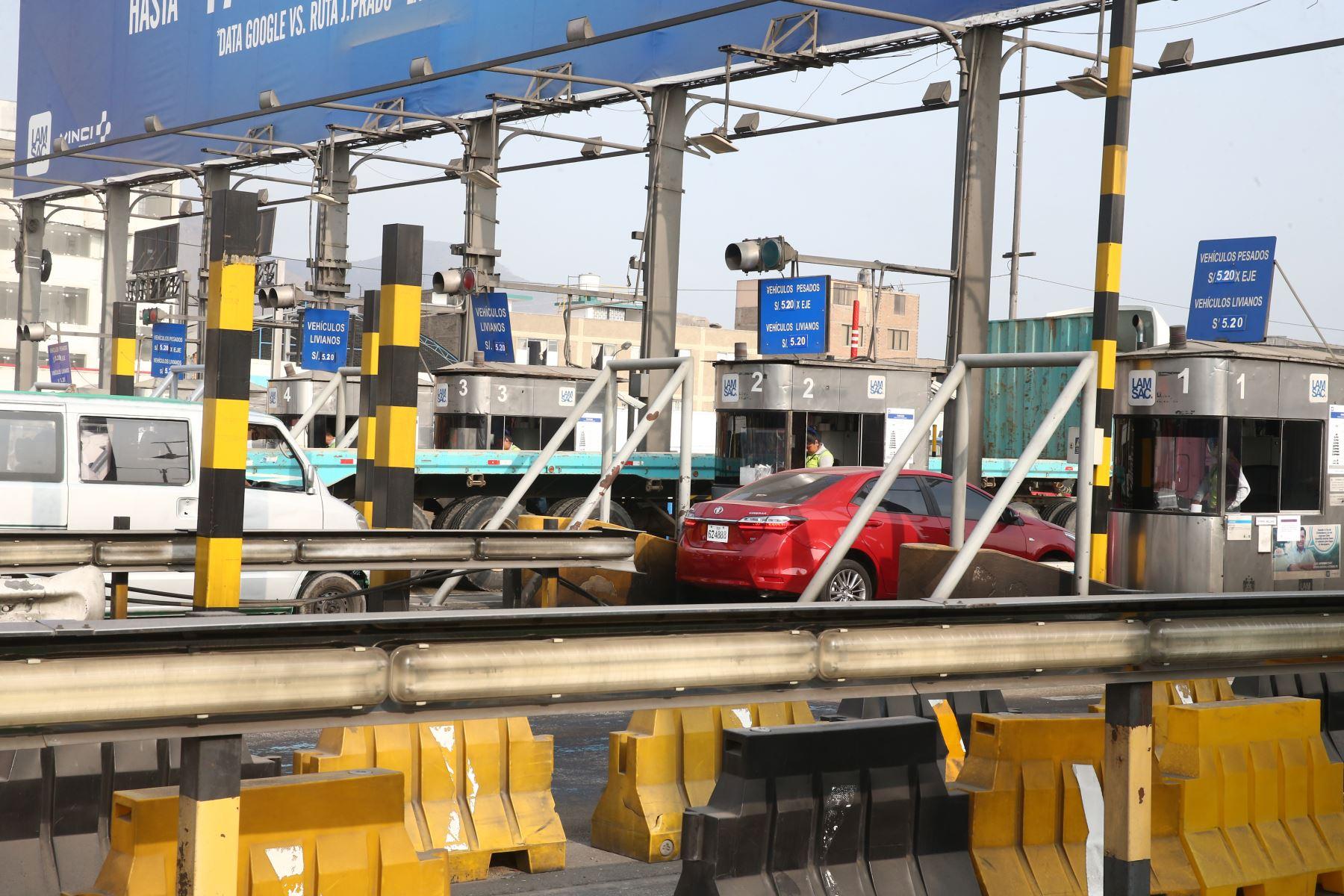 La tarifa del peaje de la Línea Amarilla ha sido fijada en 5.20 soles. Foto: ANDINA/Vidal Tarqui