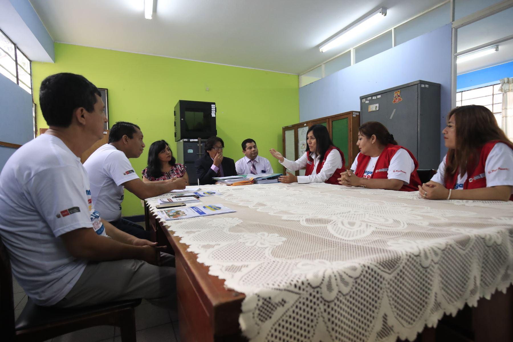Ministra de Educación, Flor Pablo supervisa situación de instituciones educativas públicas de Lima Metropolitana, con la finalidad de garantizar el Buen Inicio del Año Escolar 2020. Foto: ANDINA/Juan Carlos Guzmán