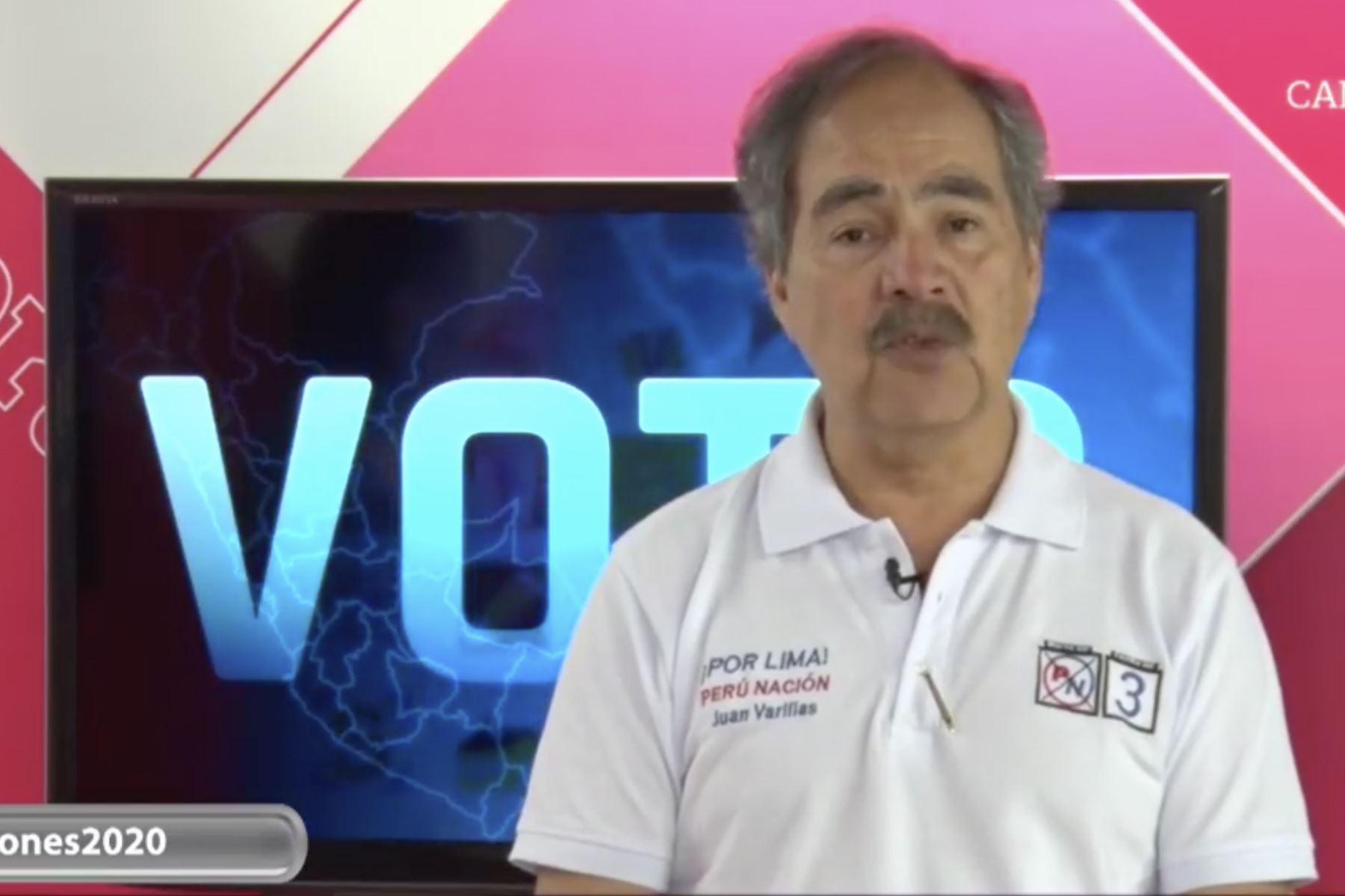 16/01/2020   Juan Varilias, candidato por Perú Nación. Foto: Captura TV.