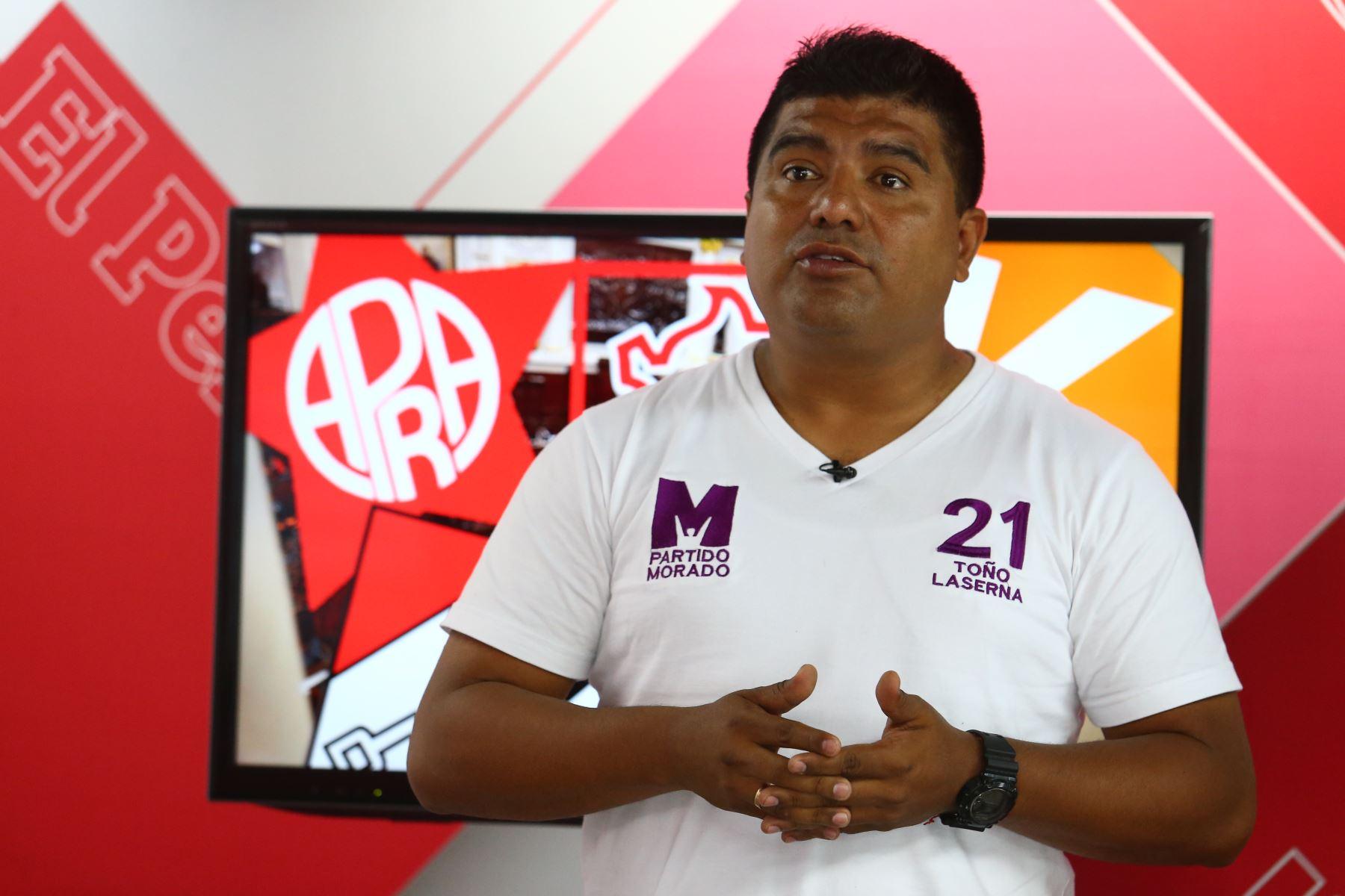 16/01/2020   Antonio La Serna candidato por el Partido Morado. Foto: ANDINA/Héctor Vinces