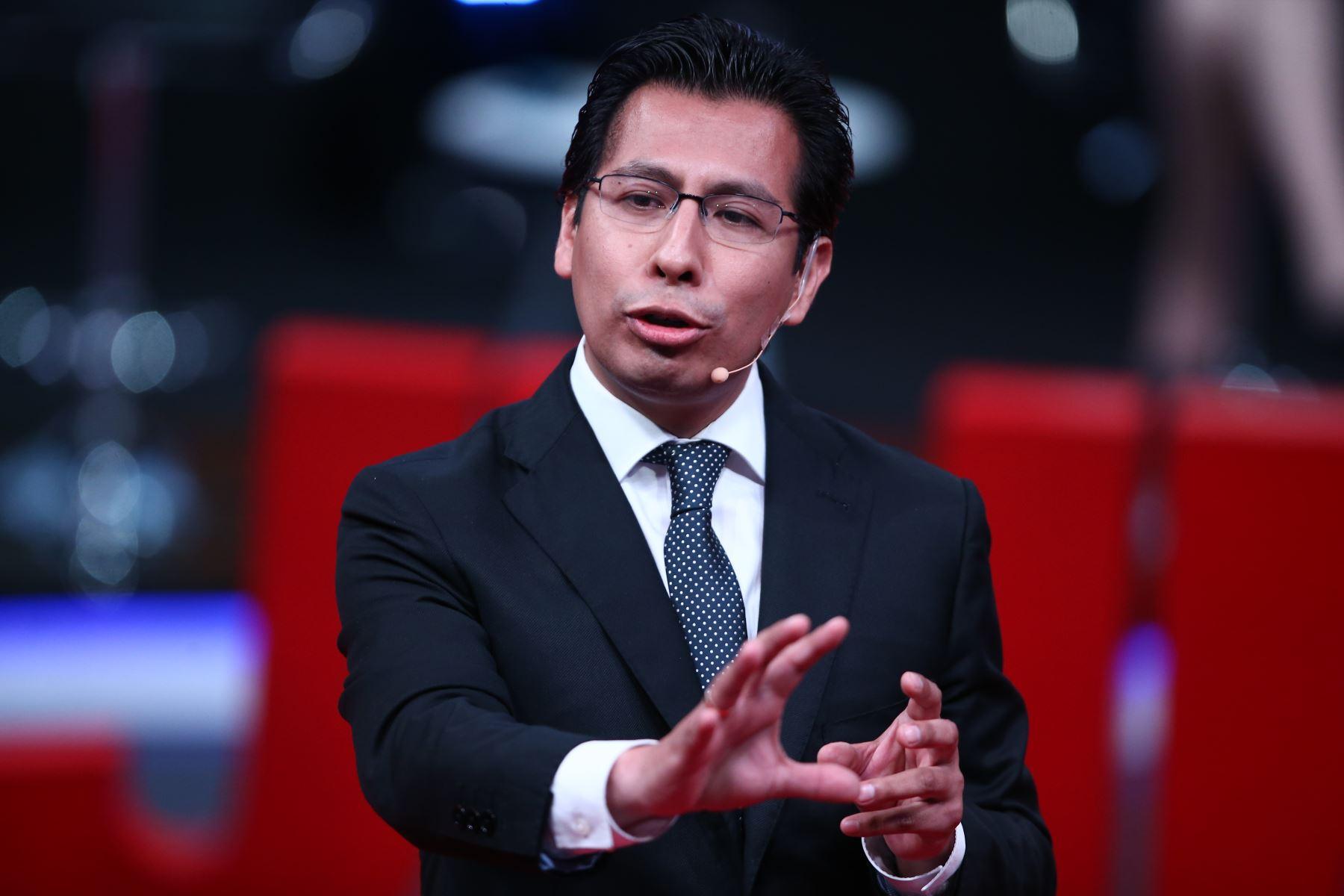 Miguel Soria Fuerte, candidato al Congreso por PPC participa en segundo debate de Lima Metropolitana. Foto: ANDINA/Tarqui Vidal