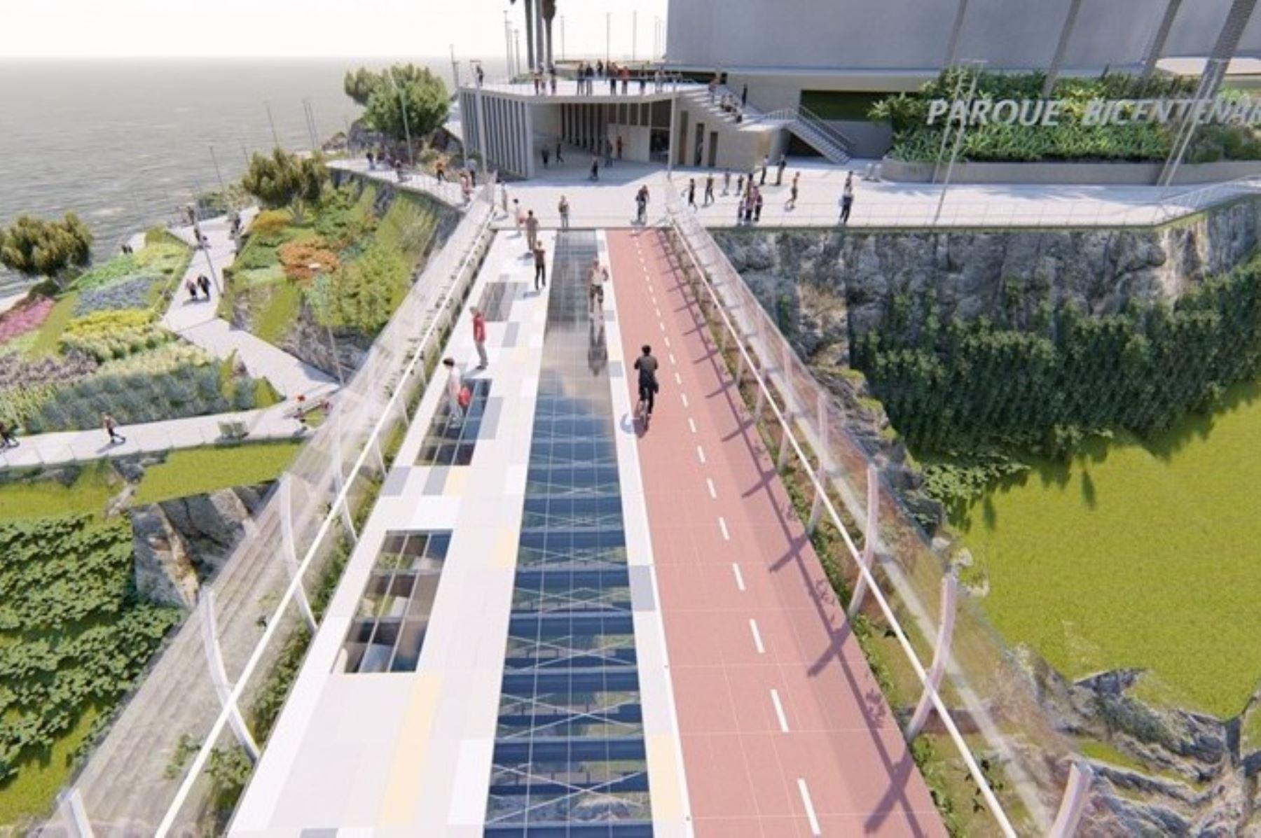 Puente Bicentenario está destinado a convertirse en principal atractivo turístico de Lima. Foto: ANDINA/difusión.
