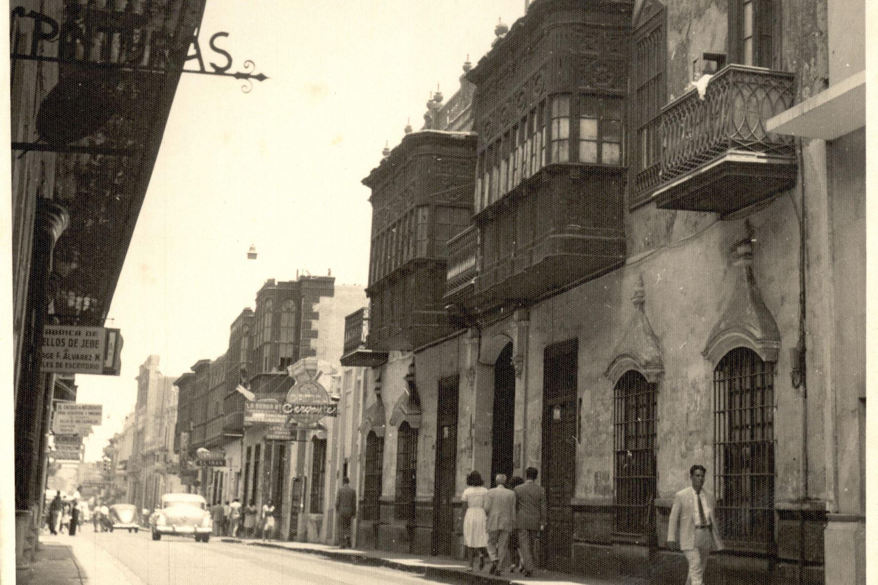 Calle Negreiros. Foto: ANDINA/archivo
