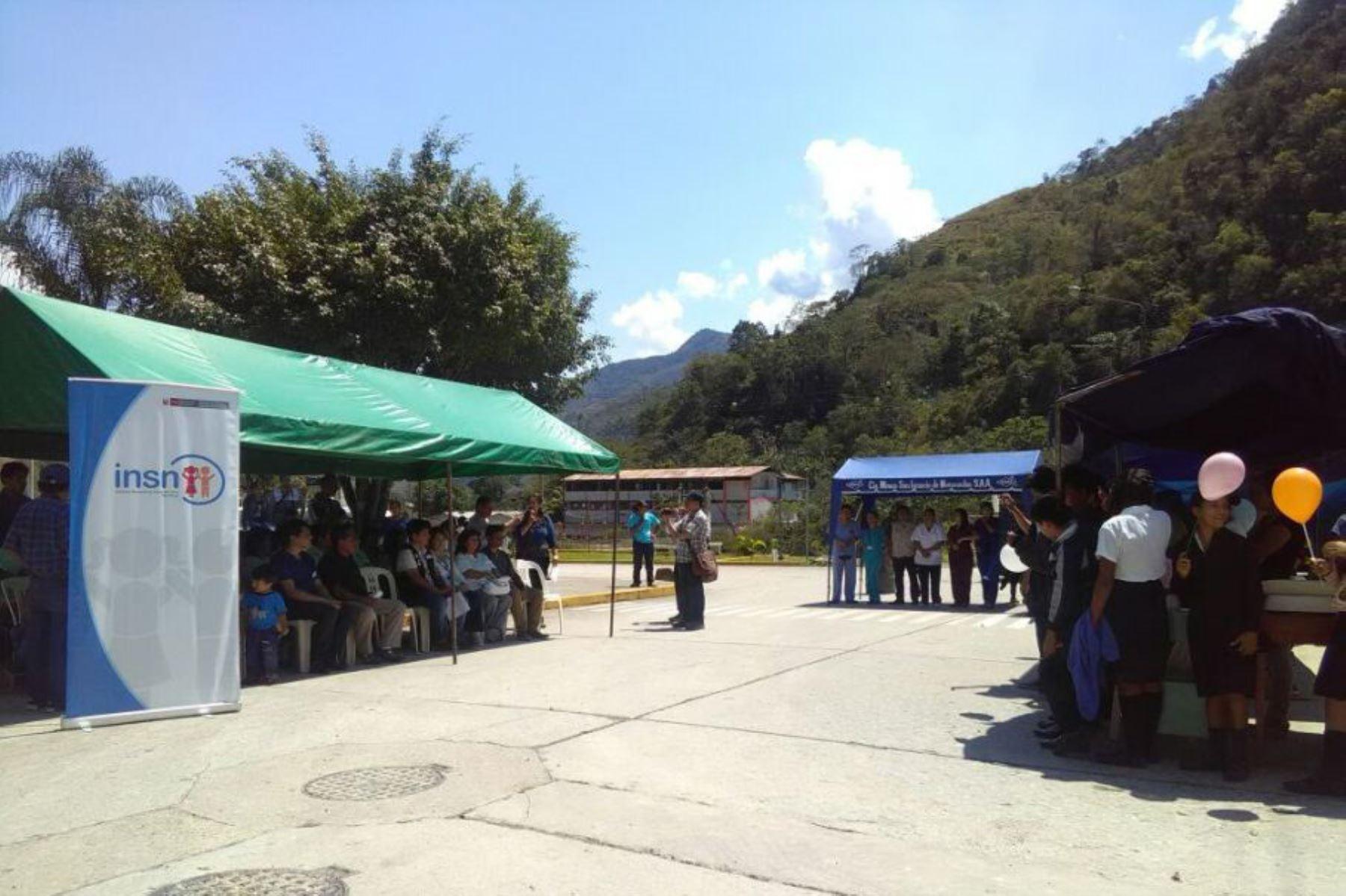 Niños y adolescentes de la provincia de Chanchamayo, región Junín, se beneficiarán mañana con campaña médica gratuita que organiza el Instituto Nacional de Salud del Niño. ANDINA/Difusión