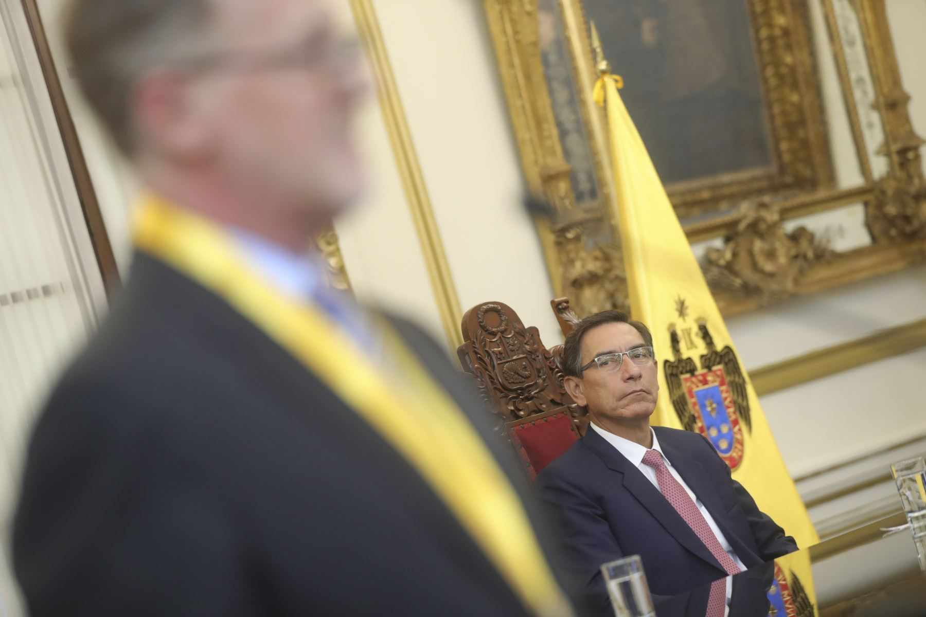 Presidente de la República, Martín Vizcarra y alcalde de Lima Jorge Muñoz encabezaron Sesión Solemne por el 485.° aniversario de la fundación de la ciudad y homenaje póstumo a limeños destacados. Foto: ANDINA/Prensa Presidencia