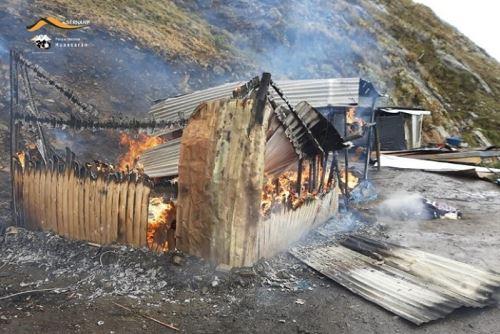 Destruyen campamento minero informal instalado en Parque Nacional Huascarán