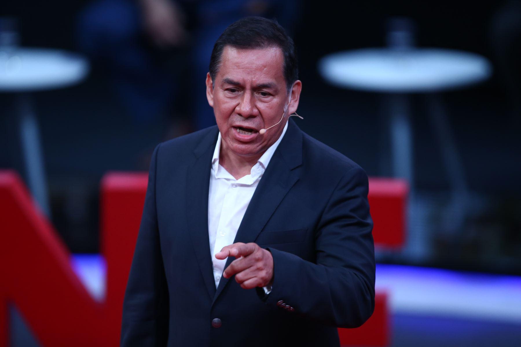 José Vega, candidato al Congreso por Unión por el Perú participa en tercer debate de Lima Metropolitana organizado por JNE. Foto: Foto: ANDINA/Vidal Tarqui