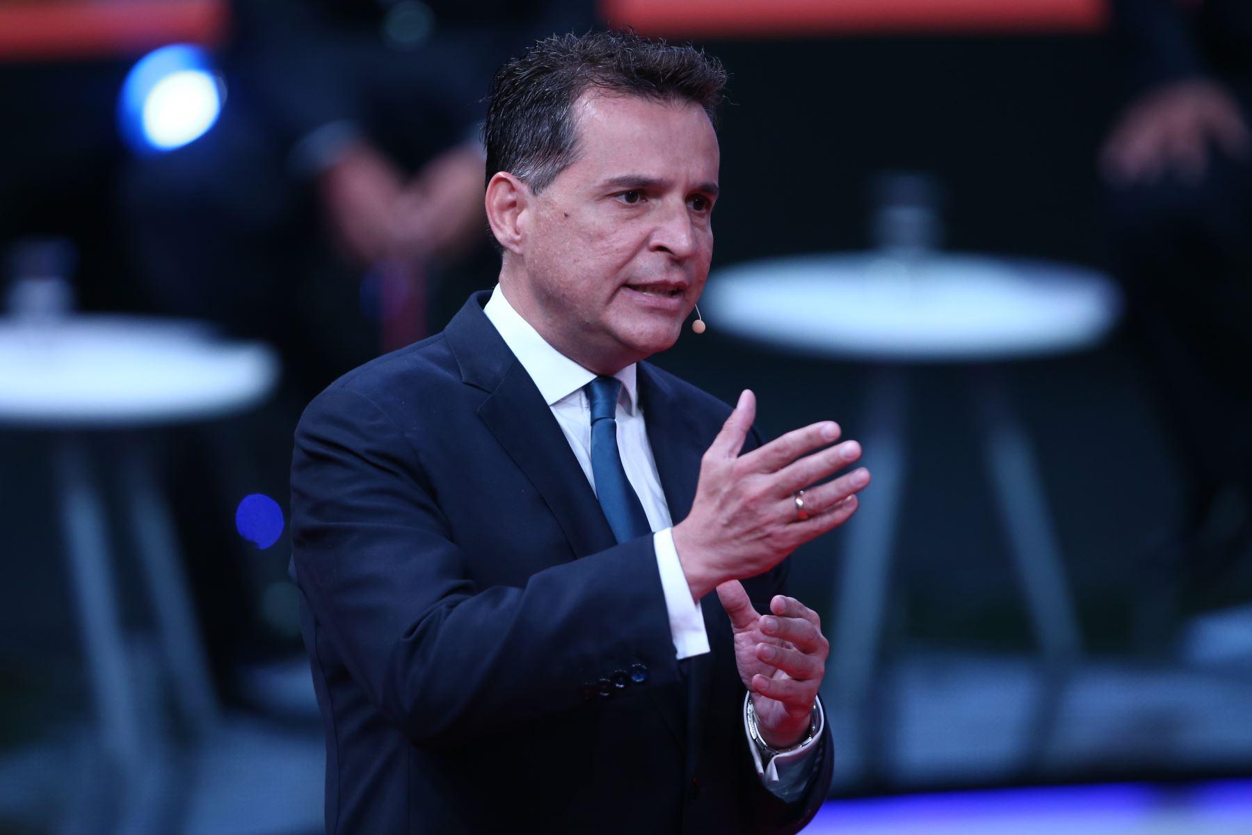 Omar Chehade, candidato al Congreso por Alianza por el Progreso participa en tercer debate de Lima Metropolitana organizado por JNE. Foto: Foto: ANDINA/Vidal Tarqui