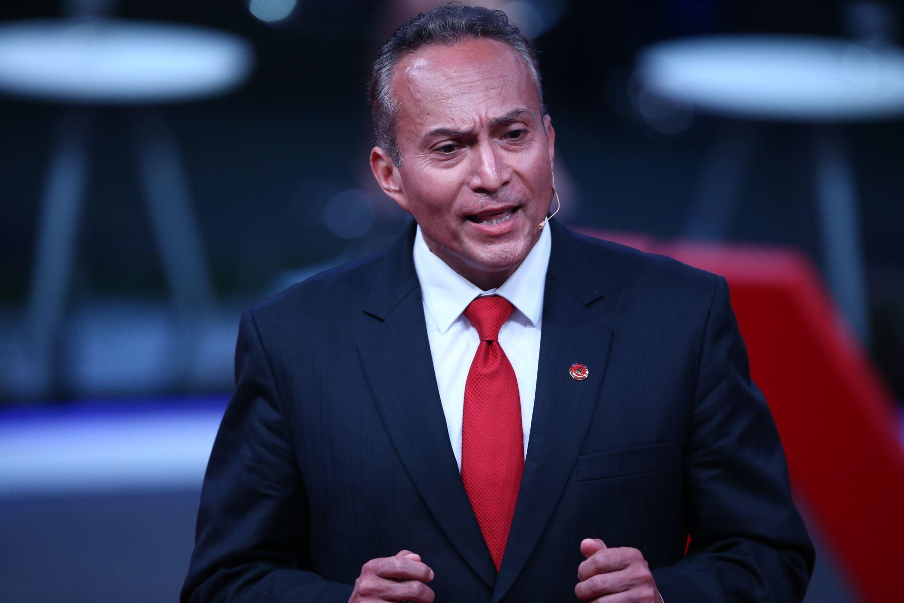 Carlos Repetto Castro, candidato al Congreso por Unión por el Perú participa en tercer debate de Lima Metropolitana organizado por JNE. Foto: ANDINA/Vidal Tarqui
