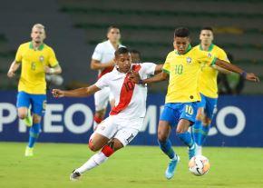 Selección peruana sub 23 perdió 1 - 0 ante Brasil. Foto: Twitter @SeleccionPeru