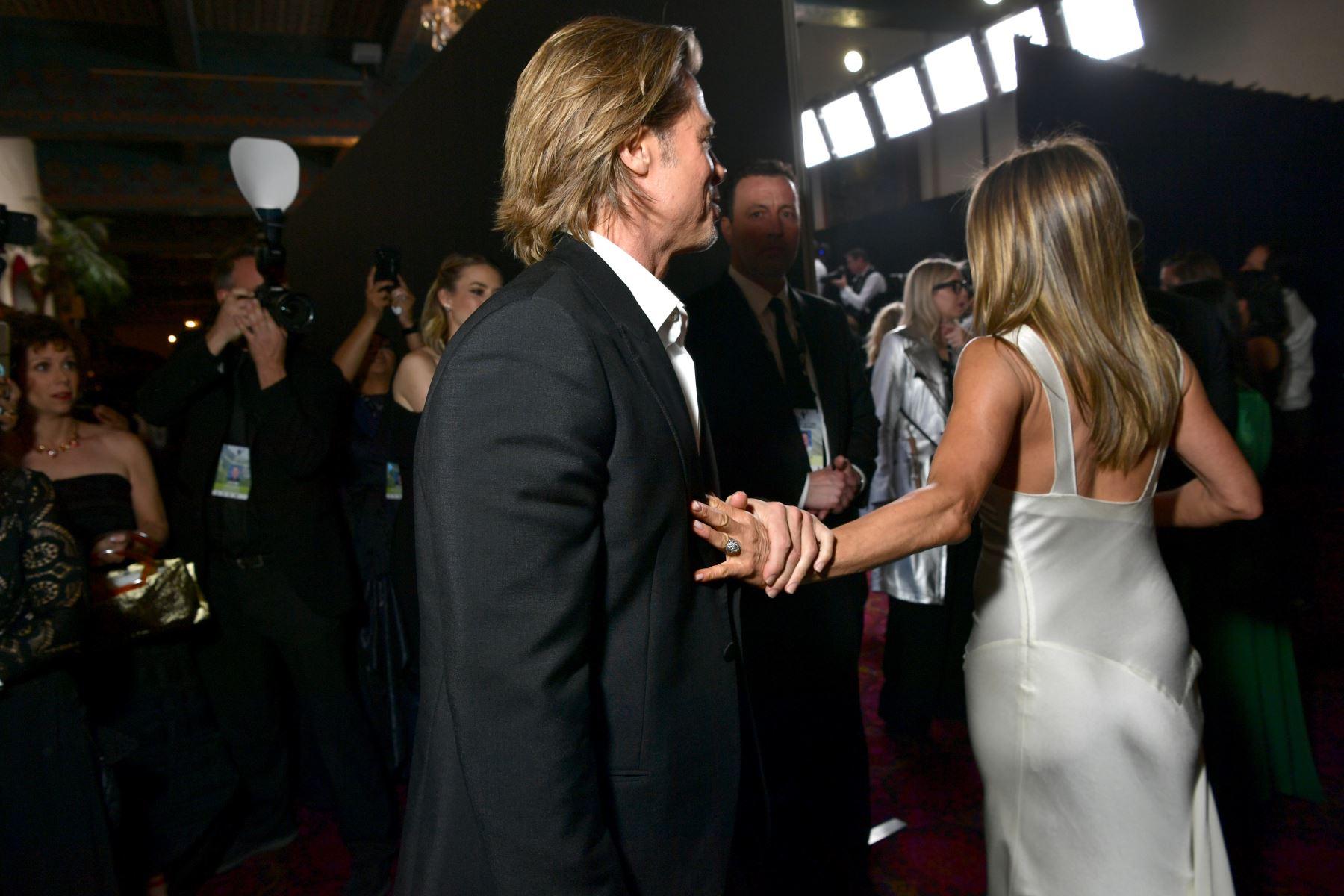 Brad Pitt y Jennifer Aniston asisten a la 26a. Entrega Anual de los Premios del Sindicato de Actores en el Auditorio Shrine. AFP