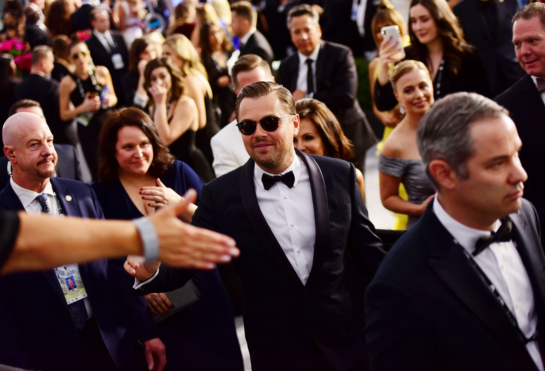 El actor Leonardo DiCaprio asiste a la 26a entrega anual de los premios Screen Actors Guild Awards en el Auditorio Shrine. AFP