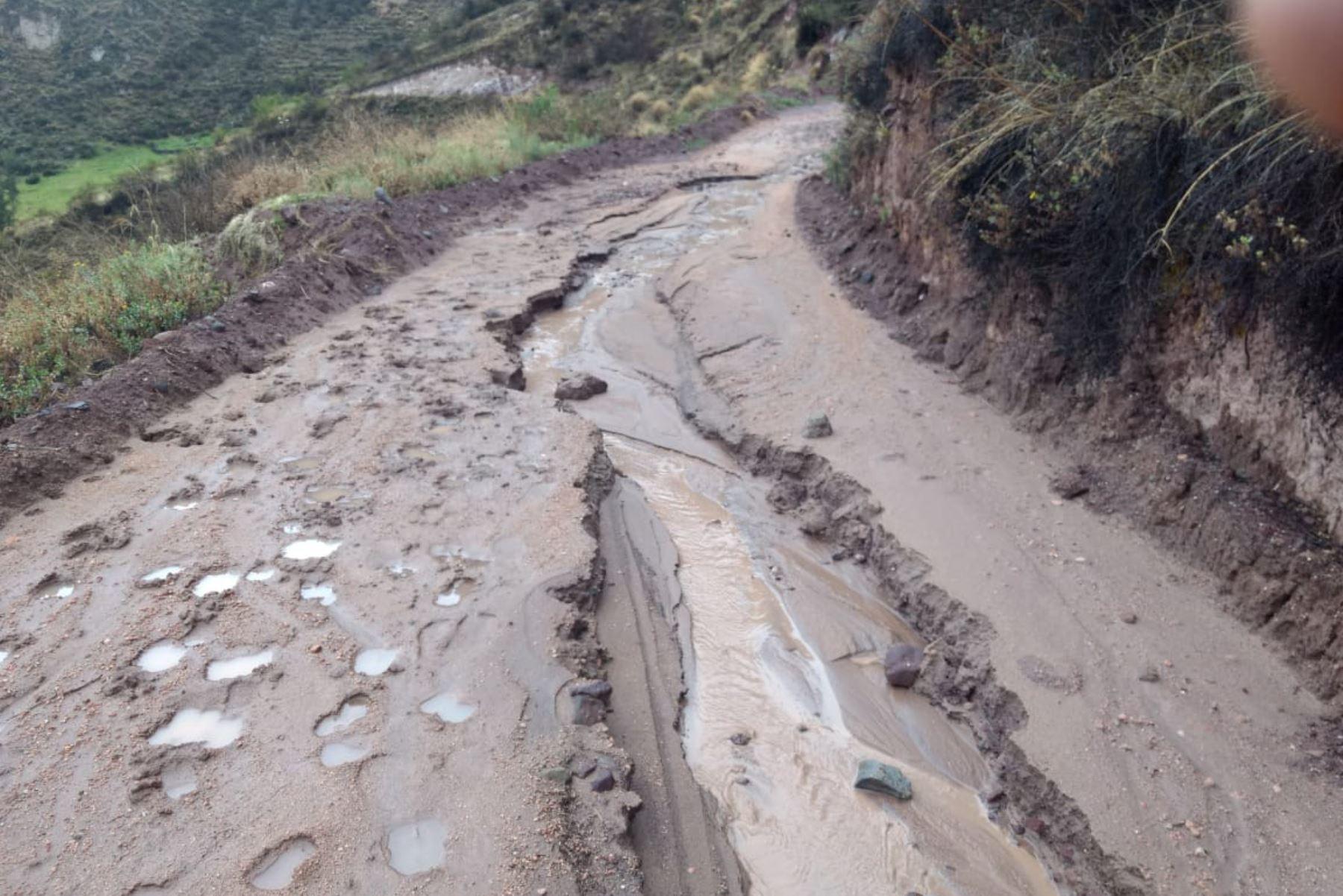 Lluvias dejan incomunicados a dos pueblos de distrito de Pampamarca, ubicado en la provincia de La Unión, región Arequipa. ANDINA/Difusión