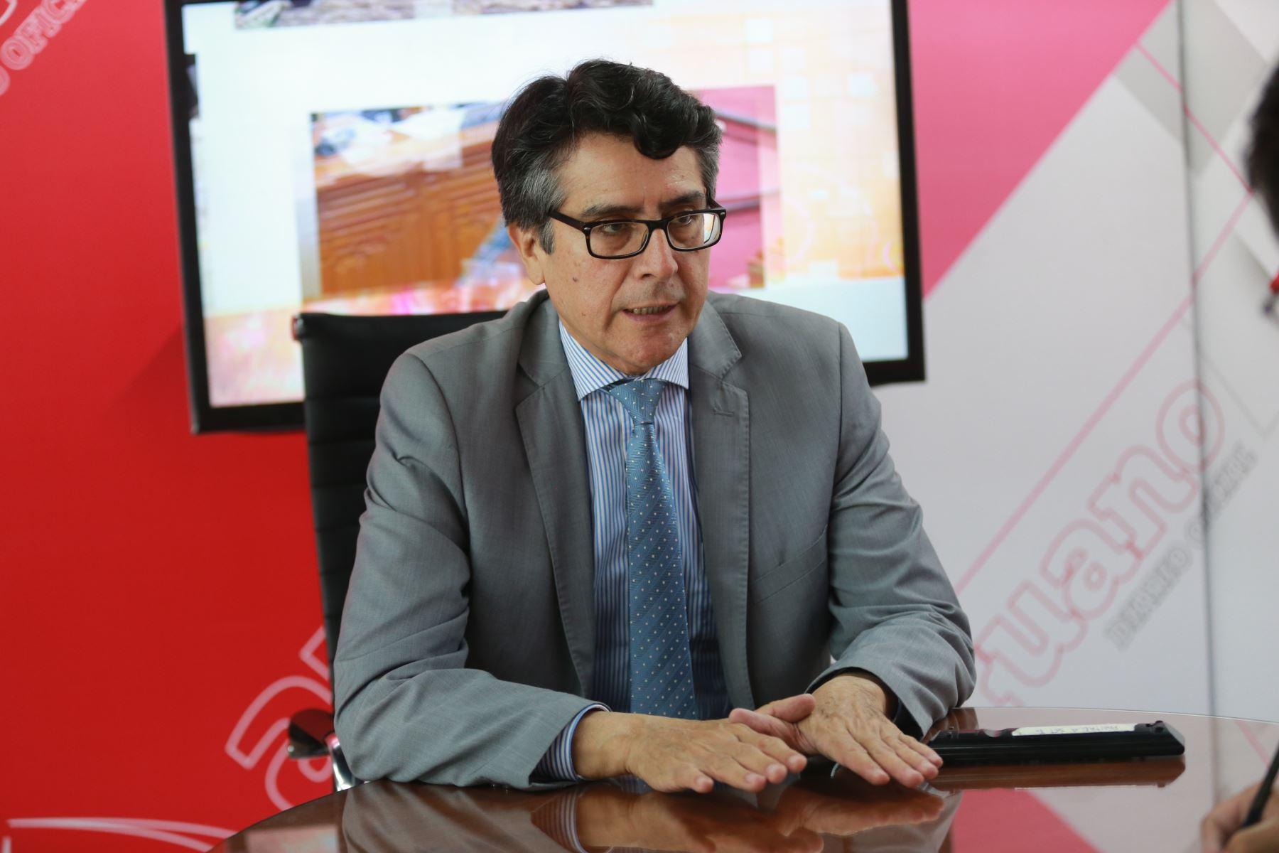 Rolando Luque, adjunto para la Prevención de Conflictos Sociales y la Gobernabilidad de la Defensoría del Pueblo. ANDINA/Jhony Laurente