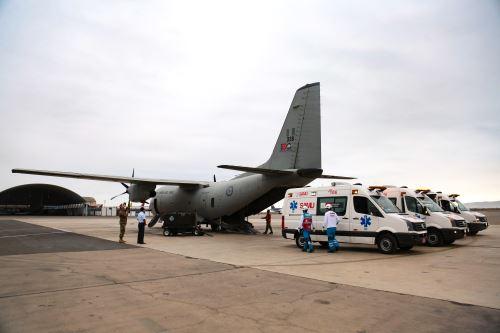 SAMU realizó traslado aeromédico de cuatro bebés desde Arequipa hacia Lima